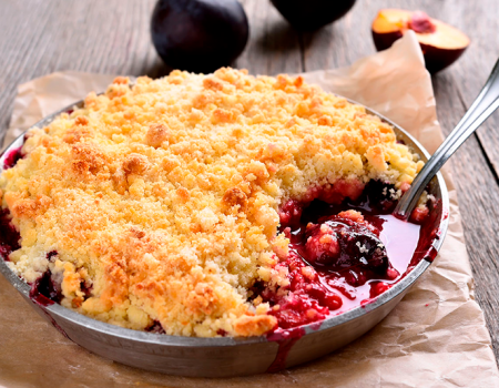 Crumble-con-cerezas