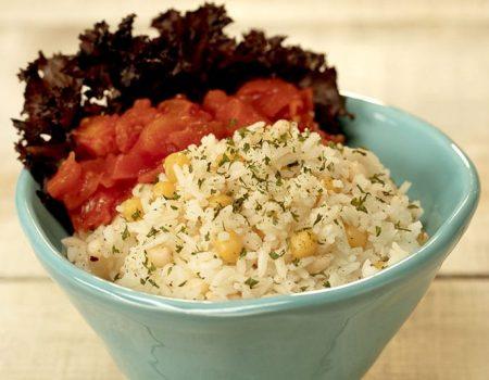 Ensalada de arroz y legumbres