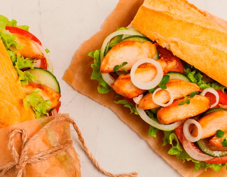 Sandwich de pavo y garbanzo