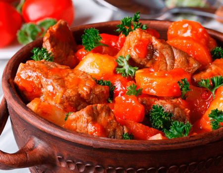 Carne de res con especias al horno