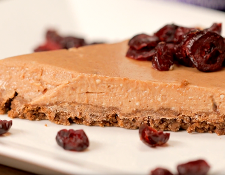 Cheesecake de Vino Tinto y Chocolate
