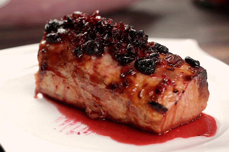 Lomo-de-cerdo-en-salsa-de-arandanos