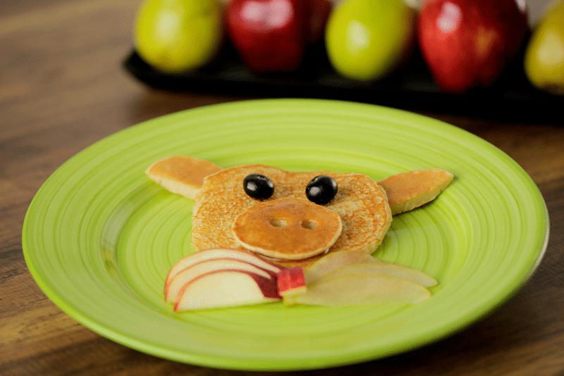 Pancakes de pera y manzana