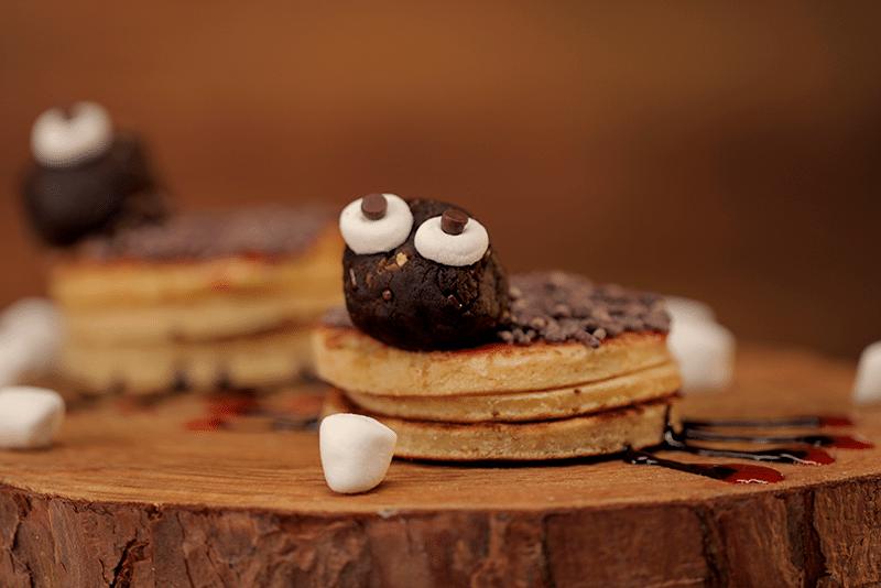 Mini pancakes araña