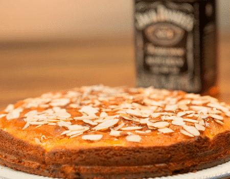 Tarta de manzana con whiskey
