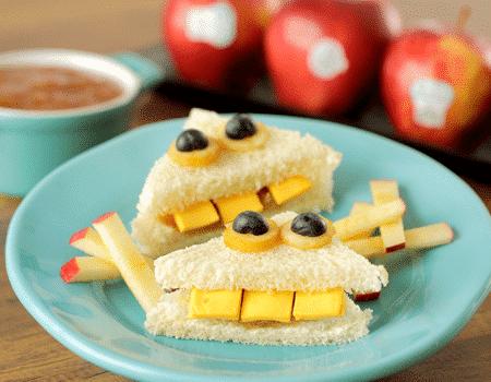 Sandwich de mermelada de manzana