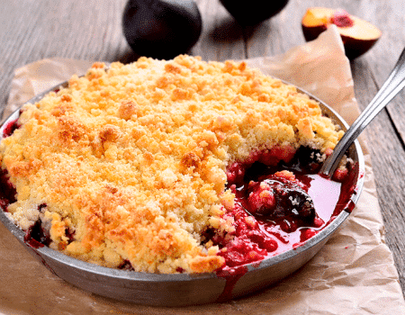 Crumble con cerezas