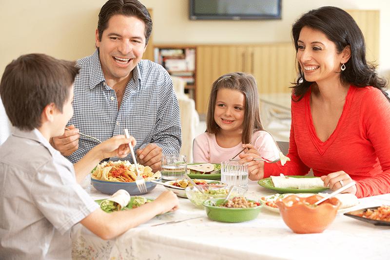 Disfruta tus comidas en familia