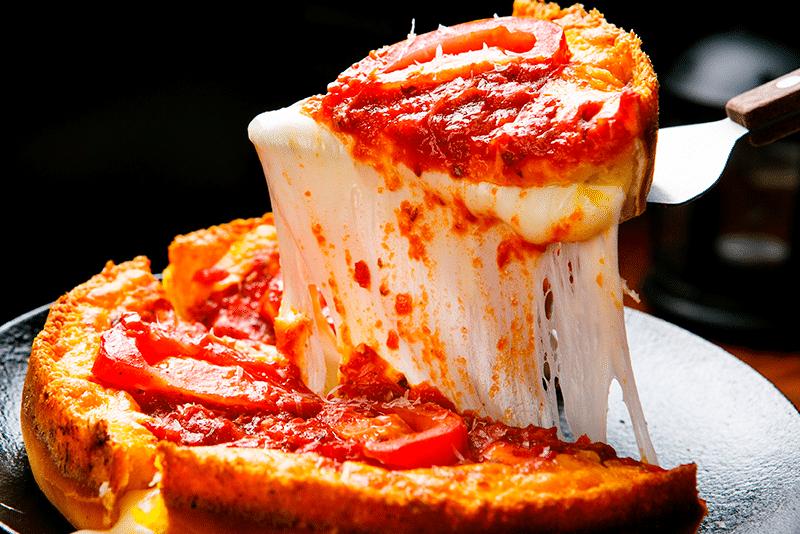 Resultado de imagen de pizza chicago